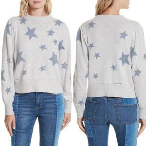 REBECCA TAYLOR Star Intarsia Wool Blend Sweater